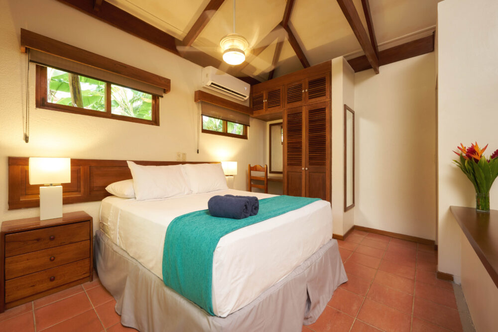 Bedroom in the BeachFront Bungalows