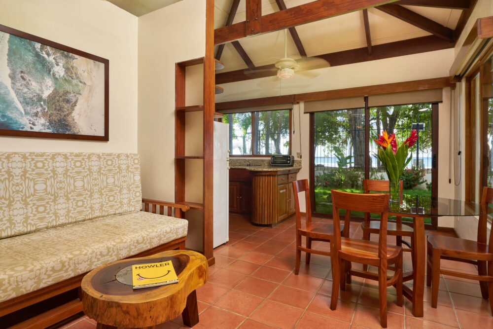 Relaxing area of the BeachFront Bungalows