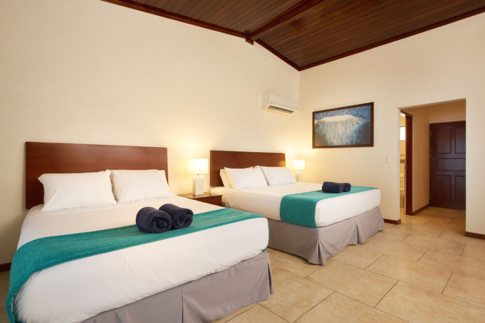 double beds in the beachfront suites plus room