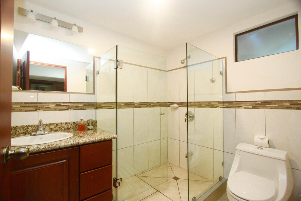 bathroom and shower in the beachfront suites plus